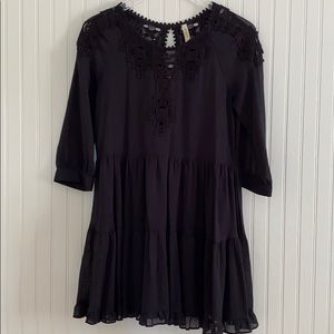 Free People Gauze Embroidered Dress